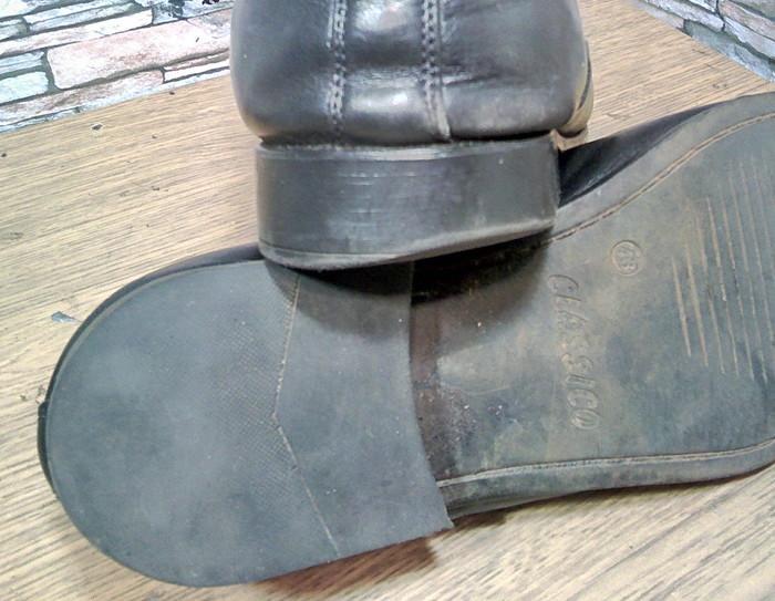 Когда немного заносили мужской каблук. Ремонт обуви, Набойки, Моя интересная работа, Фотография, Длиннопост