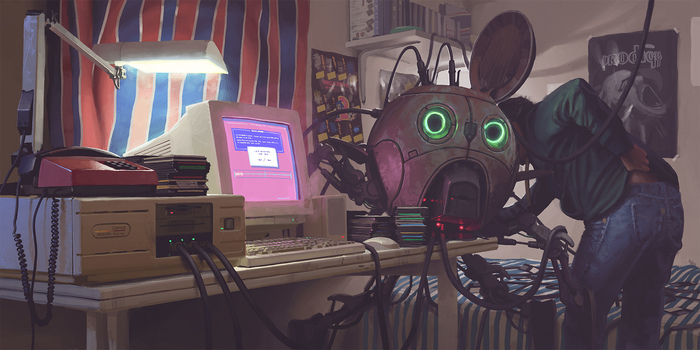 "Как я на ПК корпусе ""сэкономил"" Компьютер, Handmade, Ручная работа, Научная фантастика, Simon stalenhag, Корпус, Длиннопост"