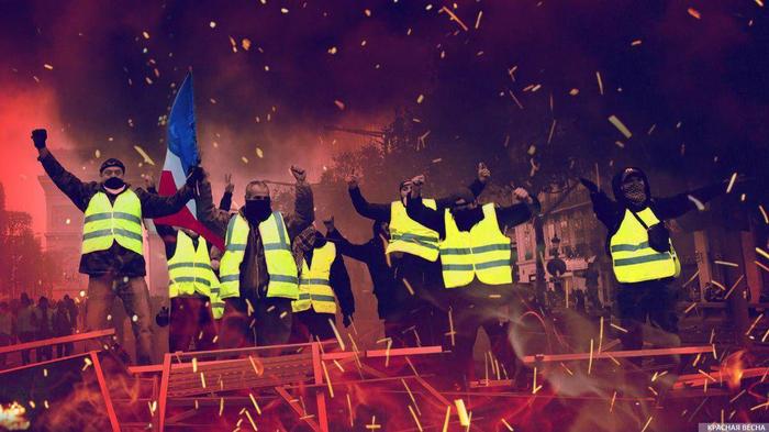 Бензиновые протесты обвалили экономику Франции. Убытки превысили миллиард евро. Новости, Протест, Желтые жилеты, Франция, Экономика, Политика