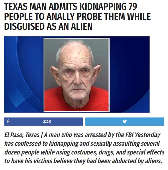 Что ж, это многое объясняет :) Похищение, Инопланетяне, Fake News, Фейк