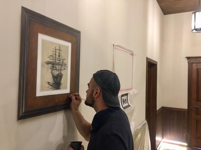 Рисованные Картины на стене