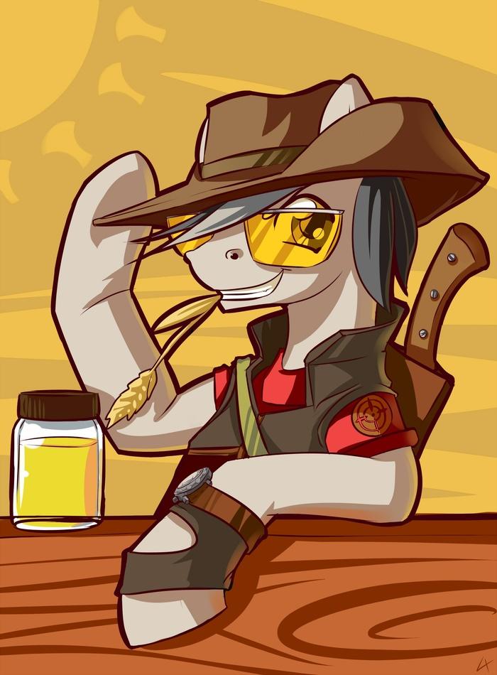 Снайпер - хорошая работа, приятель My Little Pony, Понификация, Team Fortress 2, Снайперы, Lexx2dot0