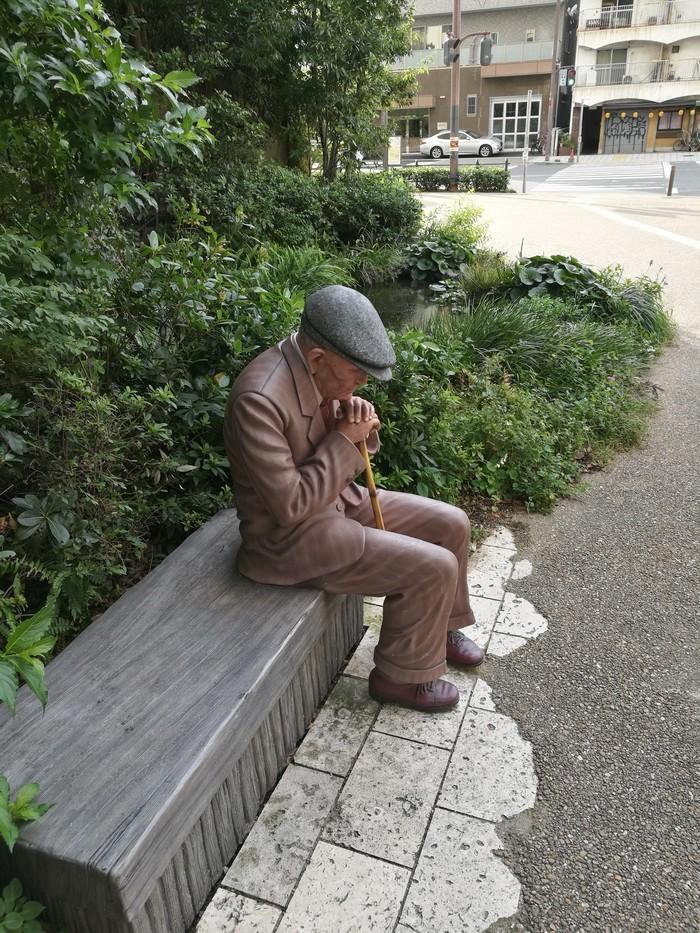 Как живой Япония, Осака, Уличная, Скульптура, Реализм