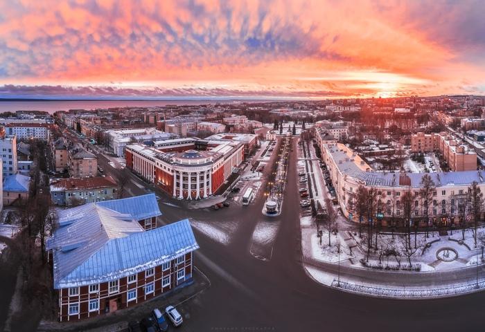 Рассвет в Петрозаводске