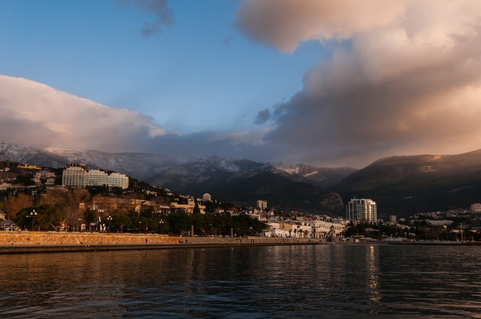 Зима в Ялте Фотография, Пейзаж, Черное море, Ялта, Зима, Длиннопост