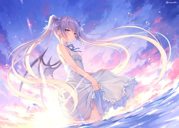 Невинность Anime Art, Аниме, Арт, Anime Original, Rurudo