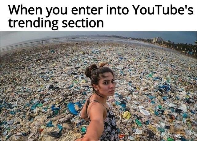 Когда заходишь в «Тренды» на YouTube Youtube, Тренд, Шлак