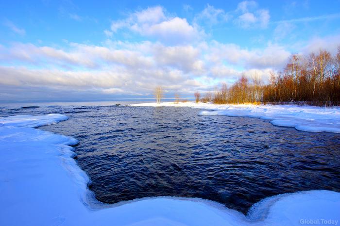 Байкал в декабре, город Байкальск Байкал, Байкальск, Зима, Пейзаж, Фотография, Длиннопост