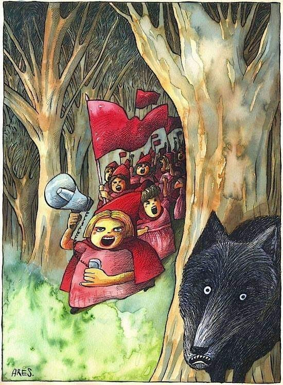 Порно фильм про красную шапочку и ее бабушку которых съел волк