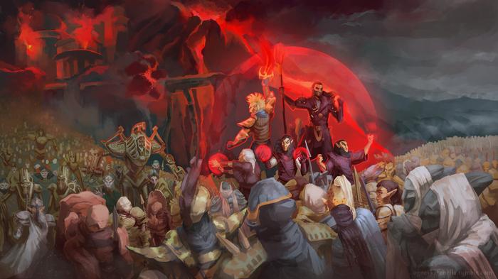 The Elder Scrolls fanart Игры, The Elder Scrolls, Арт, Компьютерные игры, Фан-Арт, Фэнтези, Длиннопост, Цифровой рисунок, Рисунок