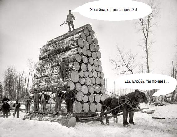 Я дрова привёз...