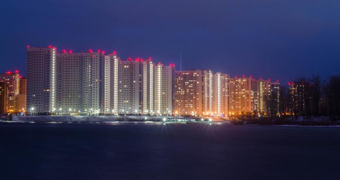 Зимний вечер, набережная, Красноярск Nikon, Набережная, Nikon d5100, Nikkor 50mm, Красноярск, Длинная выдержка, Длиннопост, Фотография