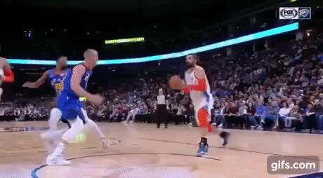Когда уважение к сопернику и его здоровье важнее Спорт, Баскетбол, NBA, Fair Play, Гифка