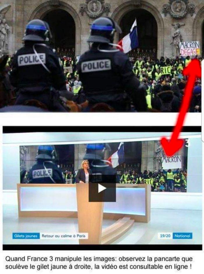 Во французских соцсетях свой скандал. Франция, Политика, Le Parisien, France 3, Париж, Ретушь, СМИ, Макрон убирайся