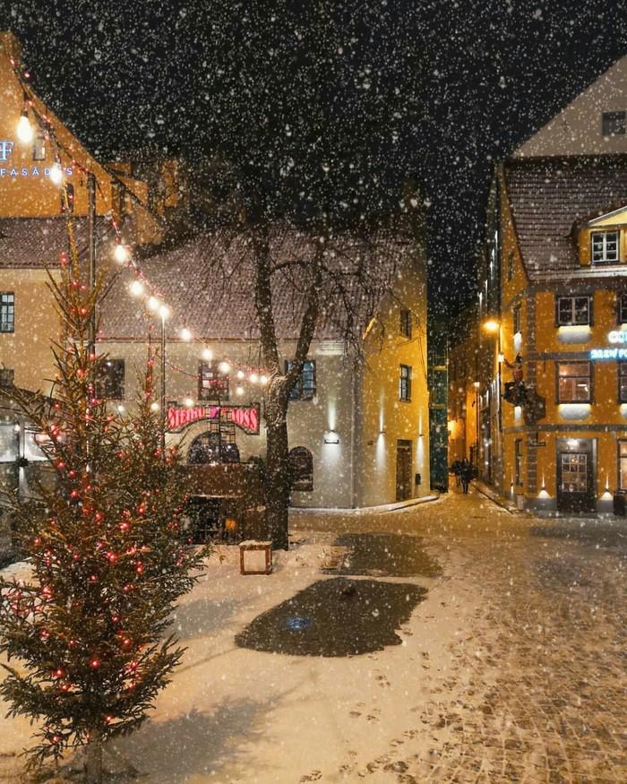Зимняя Рига, Латвия