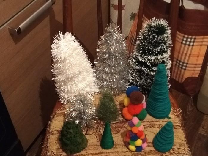 Новогодняя диорама в сад Новый Год, Поделки, Детский сад, Длиннопост