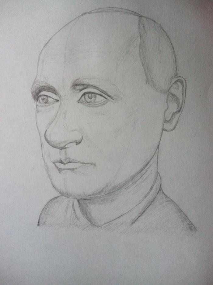 Мистер президент Учусь рисовать, Президент, Рисунок карандашом, Владимир Владимирович, Путин