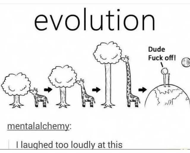Эволюция Эволюция, Дерево, Рисунок, Жираф