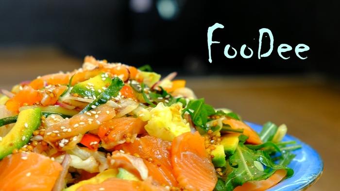 Оригинальный праздничный салат без майонеза Салат, Рецепт, Еда, Кулинария, Авокадо, Видео, Длиннопост