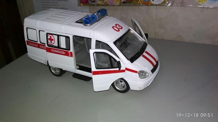 Модель скорой помощи Скорая помощь, Модель, Игрушечная машинка, Газель, И так сойдет, Детский сад, Длиннопост