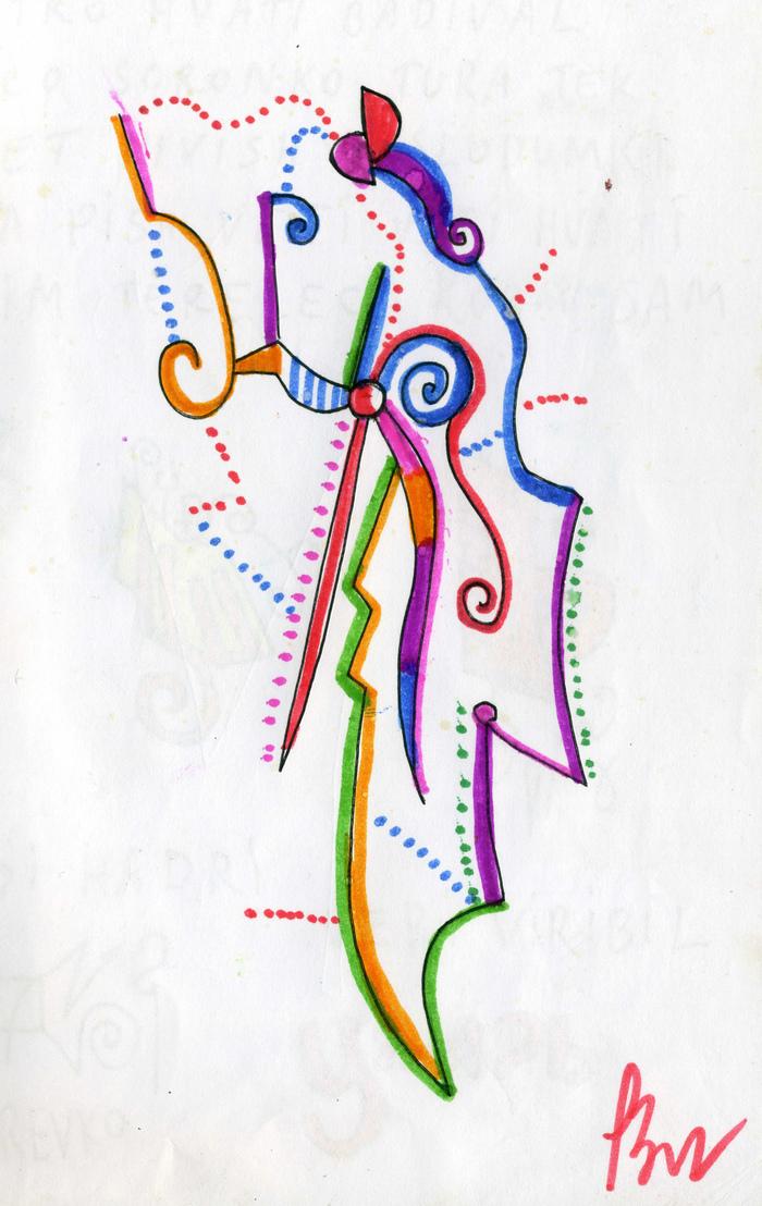 Melios Vandos Рисунок, Графика, От руки, Творчество, Разноцветность, Гелевая ручка, Маркер