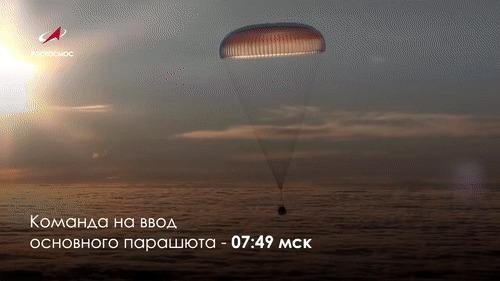 Экипаж корабля «Союз МС-09» вернулся на Землю Общество, Космос, МКС, Космонавты, Роскосмос, Союз мс, Цуп, Гифка, Длиннопост