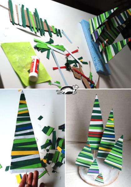 Бюджетные елки для офисного планктона Новогодняя елка, Бумага, Длиннопост