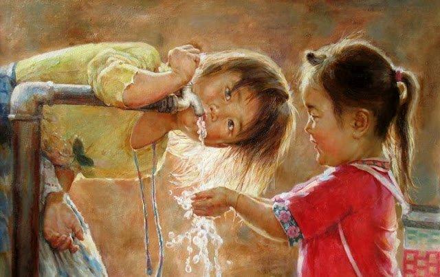 Изобразительное искусство Детство, Искусство, Счастье, Рисунок, Изобразительное искуство