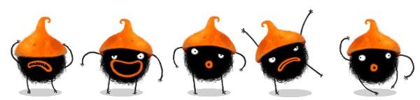 Amanita Design поменяла цвет главного персонажа... Толерантность, Chuchel, Игры, Amanita Design, Гифка, Длиннопост