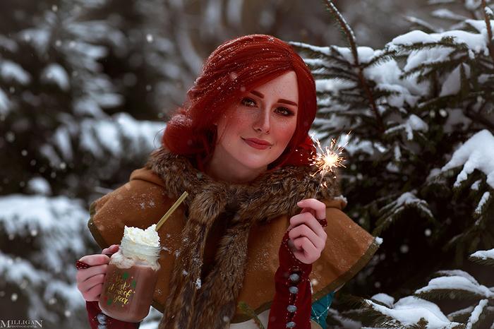 Merry Christmas! Ведьмак, Цири, Йеннифер, Трисс Меригольд, Косплей, Игры, Девушки, MilliganVick, Длиннопост