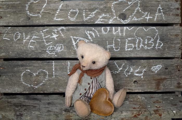 Жюль.Любовь. Amour. Love. Amore. Amor. Liebe. . Liefde. Рукоделие, Рукоделие без процесса, Своими руками, Мишка тедди, День святого Валентина, Длиннопост