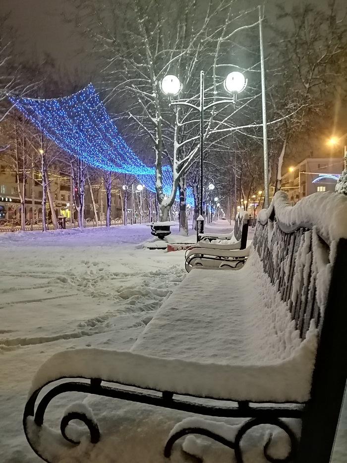 Гомель, проспект Победы Гомель, Зима, Длиннопост