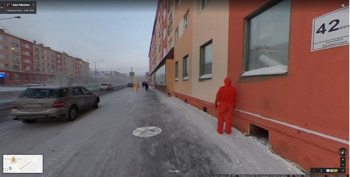 Норильск. Гугл карты. Google Maps, Норильск