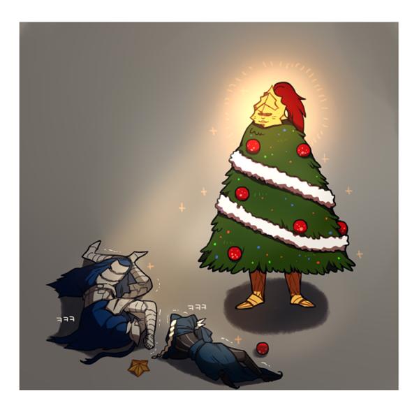 Christmas Tree Ornstein DoNar0217, Комиксы, Dark Souls, Dragon slayer Ornstein, Арториас, Lords Blade Ciaran, Длиннопост, Игры