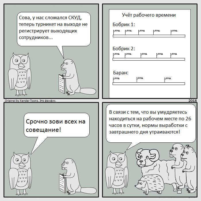 Сова и СКУД.