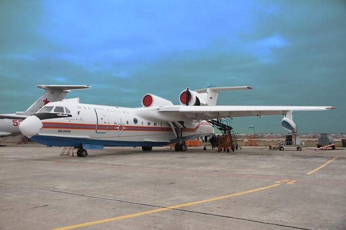 Очередной Бе-200ЧС совершил первый полет Бе-200чс, Бериев, МЧС, Самолетостроение, Россия, Производство, Российское производство