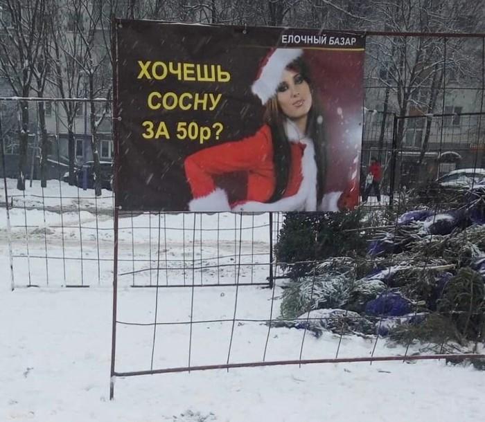 Ёлочный базар в Минске Минск, Беларусь, Сосна, Ёлка, Новый Год, Креативная реклама