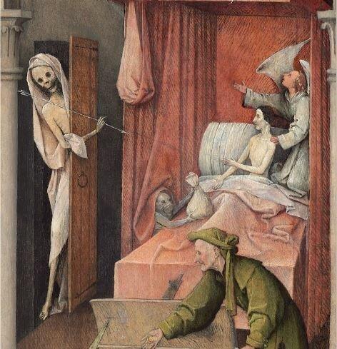 «Смерть скупца» картина - Иероним Босх Картина, Босх, Длиннопост, Из сети, Честно украдено, Смерть
