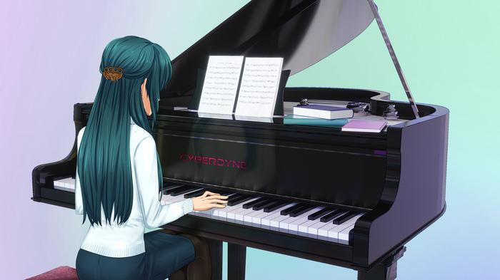 Обещание Бесконечное Лето, Hatsune Miku, Anime Art, OrikaNekoi, Визуальная новелла