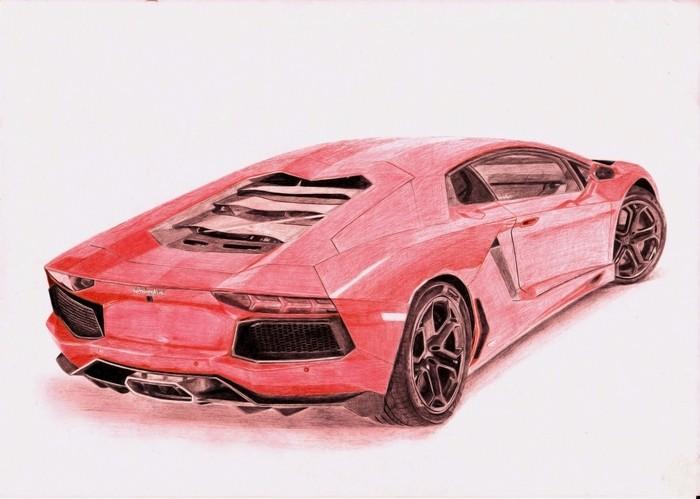 Lamborghini Арт, Рисунок, Авто, Шариковая ручка, Рисунок ручкой, Lamborghini, Длиннопост, Спорткар, Фотореализм