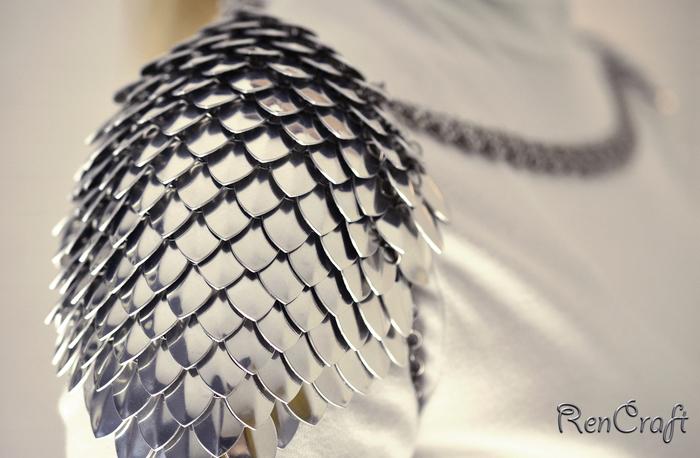 Чешуйчатые наплечи 2 Рукоделие без процесса, Кольчужное плетение, Кольчужные украшения, Ручная работа, Наплечники, Кольчуга, Длиннопост