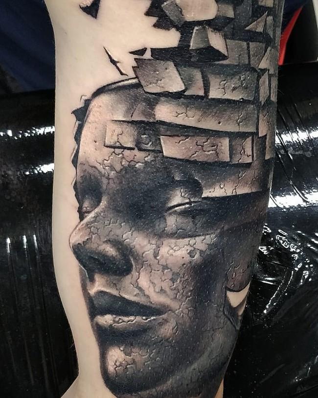 Ещё один рукав в процессе. Жду ещё минусов)) Тату, Москва, Реализм, Татуировщик, Лига любителей татуировки, Тату салон, Видео, Длиннопост