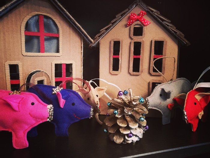 Свинок много не бывает! Свинья, Новый Год, Своими руками, Подарок, Ручная работа