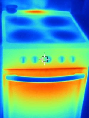 Простые вещи глазами тепловизора 3. Последняя, остатки. Фотография, Тепловизор, Инфракрасная съёмка, Инфракрасное излучение, Быт, Бытовуха, Ноутбук, Простые вещи, Длиннопост