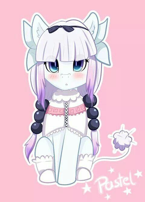 Пони-горничнаягоспожи Кобаяши My Little Pony, Kobayashi-San chi No maidragon, Понификация, Crossover, Kanna Kamui, Аниме, Ponyart