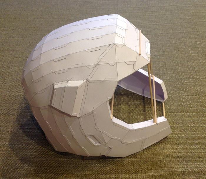 Ranger Helmet из Quake Champions (часть первая) Pepakura, Quake, Helmet, Рейнджеры, Шлем, Papercraft, Длиннопост