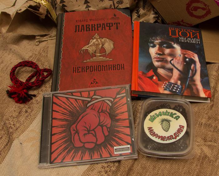 АДМ Когалым Обмен подарками, Metallica, Некрономикон, Видео, Длиннопост, Отчет по обмену подарками, Тайный Санта