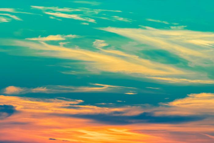 Закатно-бирюзовые небеса