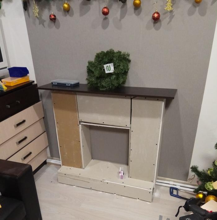 Пятничный новогодний камин Камин, Декоративный камин, Своими руками, Новый Год, Handmade, Длиннопост