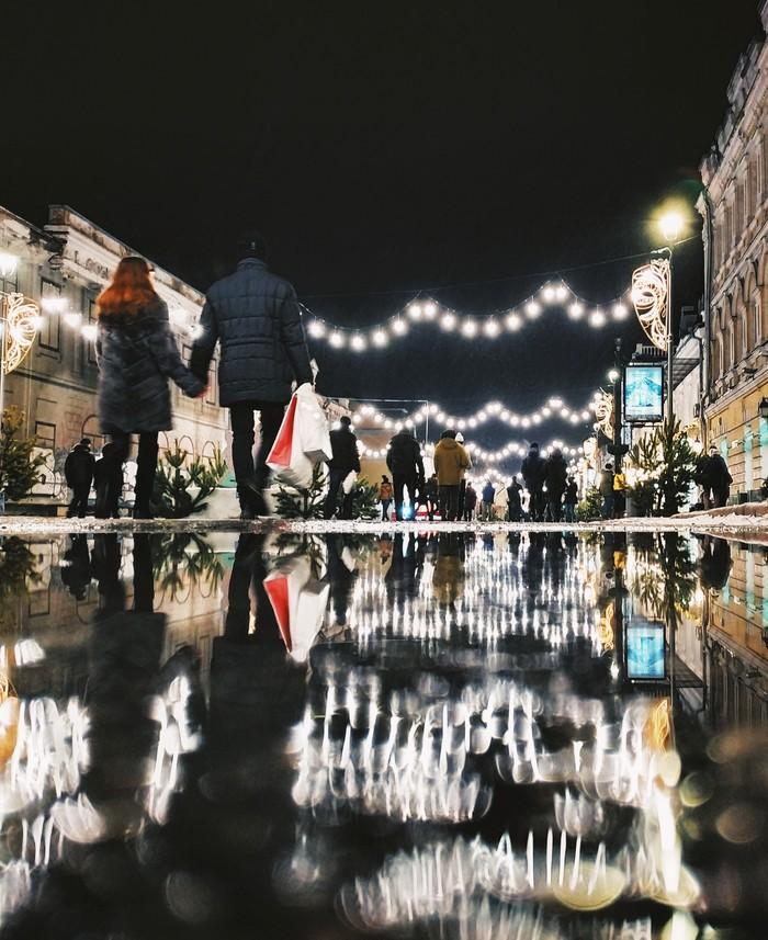 Вечерняя романтика Мобильная фотография, Начинающий фотограф, Улица, Новый Год